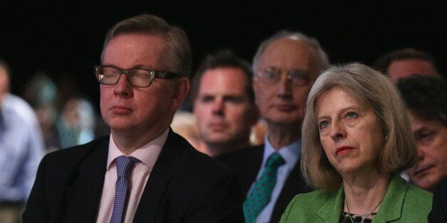 Education Secretary Michael Gove (L) and Home Secretary Theresa May are in dispute over the alleged 'plot'...