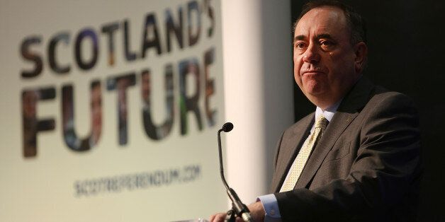 RUTHERGLEN, SCOTLAND - MAY 27: The Scottish Cabinet led by First Minister Alex Salmond hold a Question...