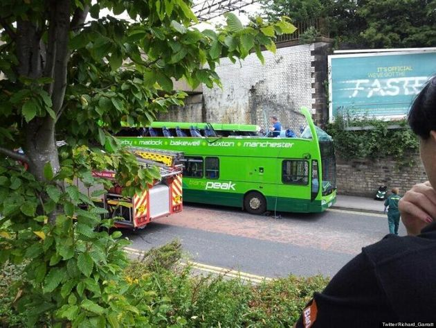 Six Injured As Bus Roof Torn Off By Bridge In