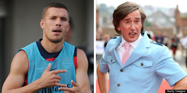 Arsenal's Lukas Podolski Parodies Alan Partridge's A-Ha