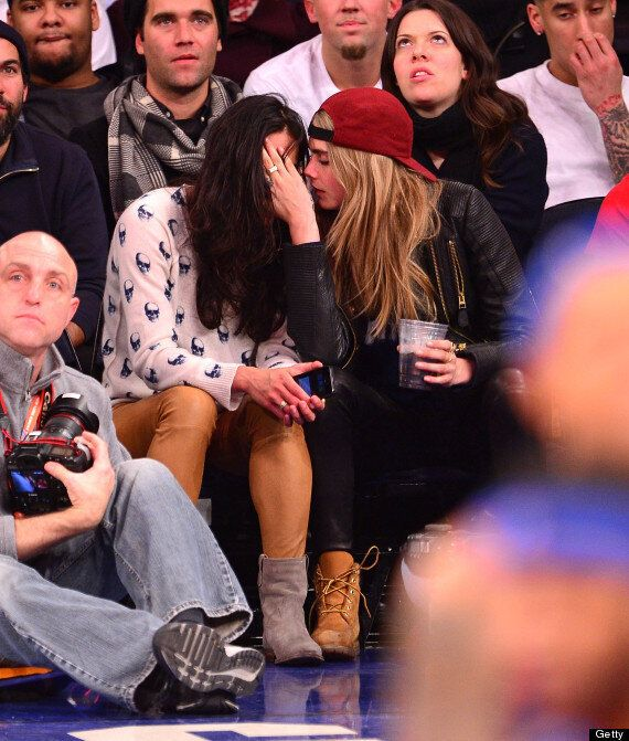 Cara Delevingne And Michelle Rodriguez Raise Eyebrows With Major PDA And Bizarre Behaviour At US Basketball...