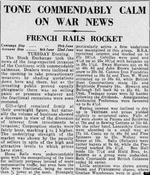 The Financial Times' D-Day Coverage Was Fantastically British