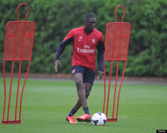 Yaya Sanogo Trains With Arsenal