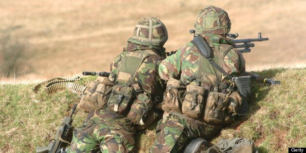 British Army soldiers in the Brecon Beacons, South