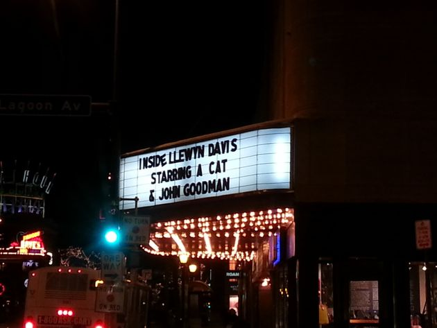 This Cinema Sign Tells You All You Need To Know About The New Coen Brothers' Movie 'Inside Llewyn Davis'