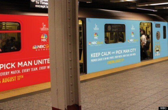 Premier League Takes Over New York Subway