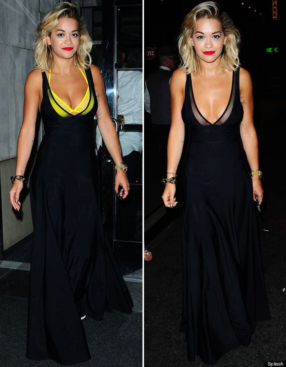 Rita Ora Ditches Her Bra Halfway Through A Night Out