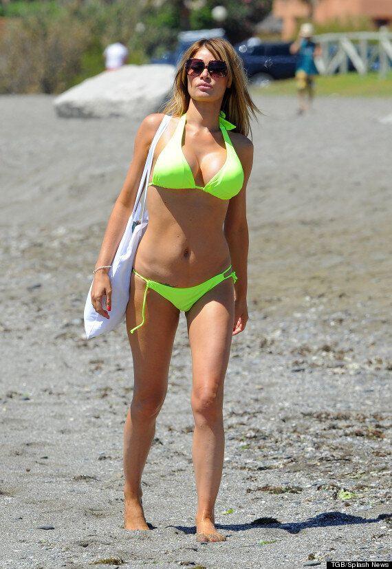 'TOWIE' Stars Hit The Beach In Flesh-Flashing Bikinis In Marbella