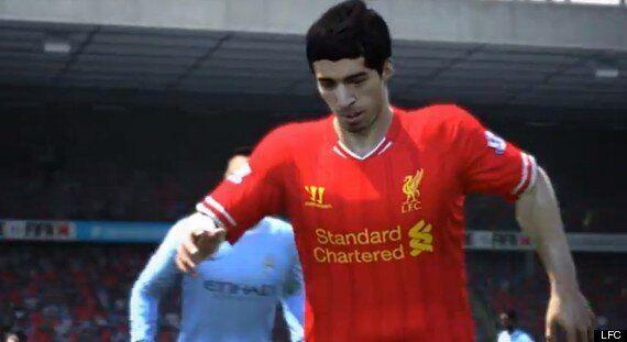 Luis Suárez Looks Unhappy Posing For Liverpool Fifa 14 Head Scan