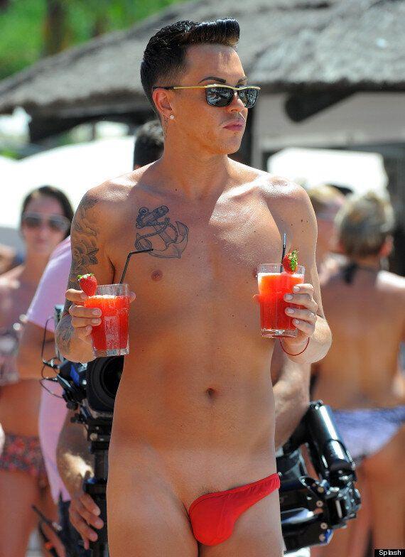 'TOWIE' Star Bobby Norris And Boyfriend Harry Derbidge Let It All Hang Out In Bizarre Swimwear In Marbella