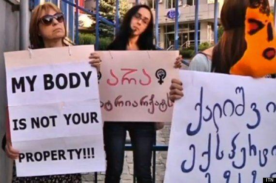 'Virginity Checks' For Brides-To-Be Attract Feminist Protestors In Georgia, Tbilisi