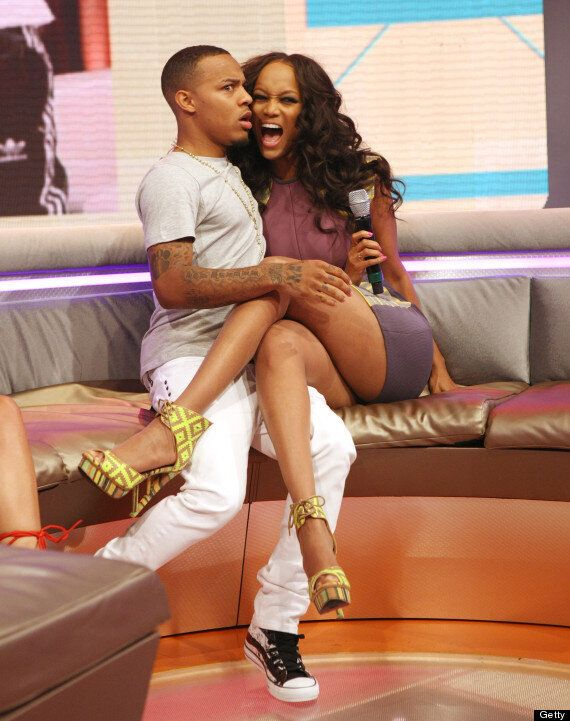Tyra Banks Unleashes Her Inner Cougar As She Kisses Bow Wow On US TV (PICS,