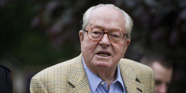 Founder and honorary president of the French far-right Front National (FN) party and candidate in the...