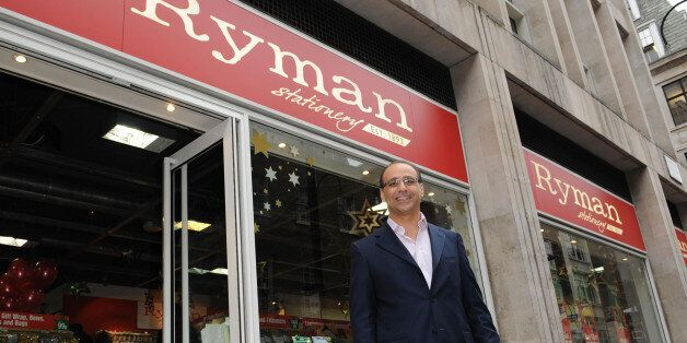 Theo Paphitis outside his Ryman Stationary store on Wardour Street in central London after presents The...