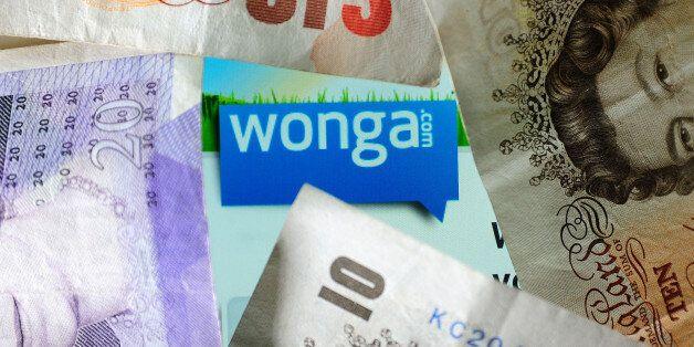 General view of the logo of money lending website