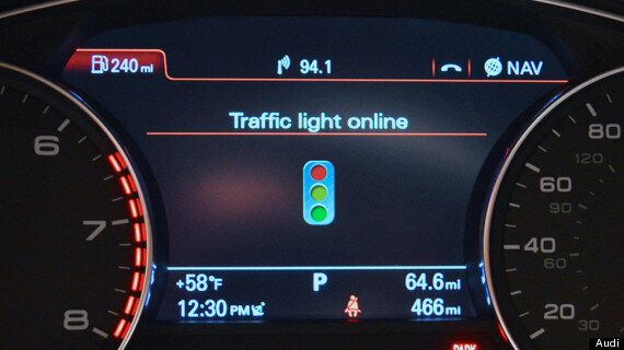 Audi Smart City Traffic Light Assistance Means You'll Never Stop For A Red Light