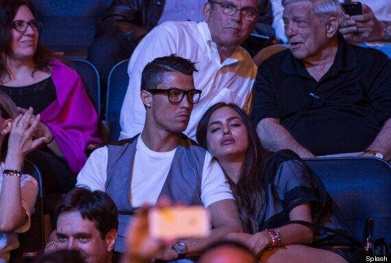Cristiano Ronaldo's Girlfriend Irina Shayk Can't Keep Her Eyes Open At Boxing Match In New York