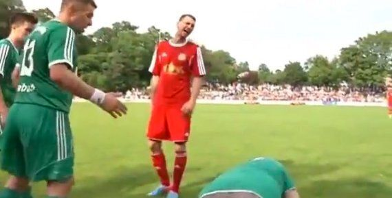 German Amateur Coach's Hilarious Dive