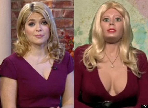 Holly Willoughby Interviews Living Doll On 'This Morning' Who Is A Dead Ringer For Herself.