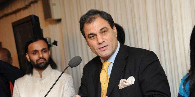LONDON, UNITED KINGDOM - NOVEMBER 15: Lord Bilimoria attends ceremony to honor Brahmrishi Shree Kumar...