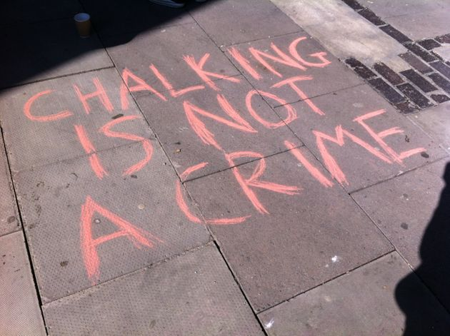 Protest as Student 'Chalker' Pleads Not