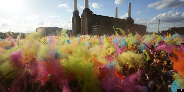 Revellers Put On Colourful Display In London