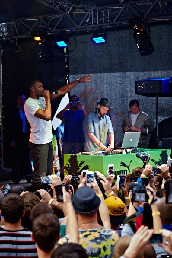 Usain Bolt Holds Party In Gorky park Ahead Of Moscow World Championships