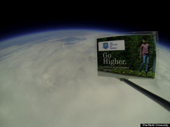 Clearing 2013: Sheffield University Advertises In Space, Making World's Highest Advert