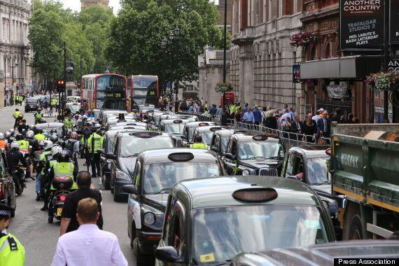Taxi Protest Over Uber App Earns Mocking Tweet From Tory Minister Matt Hancock