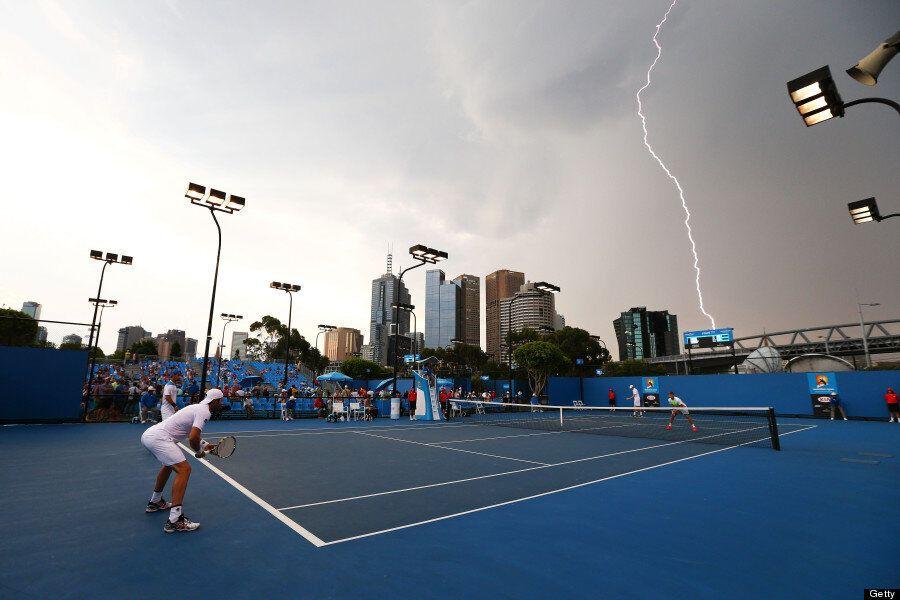 Australian Open 2014: Lightning Strikes In Melbourne