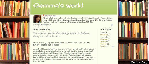 Blogger Of The Week: Swansea University Student Gemma