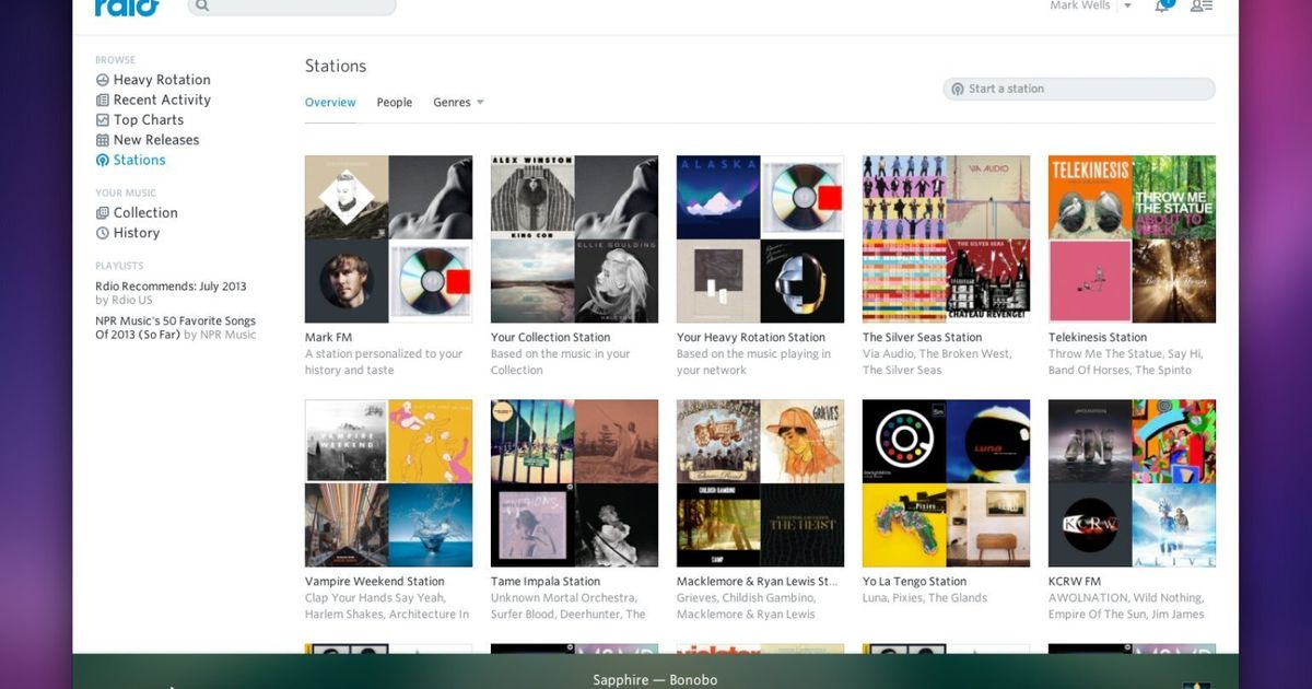 Rdio Launches 'You FM' Radio Stations Amid Challenge From Apple And