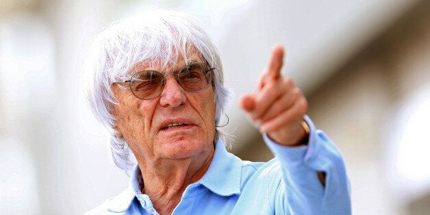 SINGAPORE - SEPTEMBER 19: F1 Supremo Bernie Ecclestone walks in the paddock during previews for the Singapore...