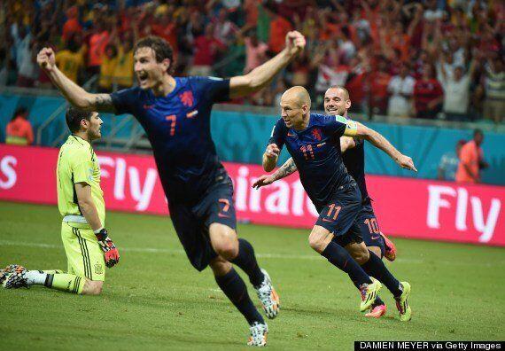 Spain 1-5 Holland: Dutch Stun World Cup
