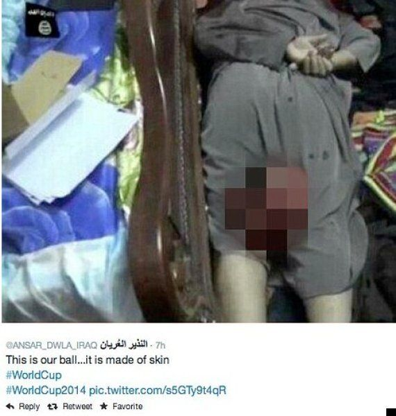Isis Insurgents Tweet Picture Of Beheaded Man And Boast: 'This Is Our Ball. It's Made Of Skin #WorldCup'