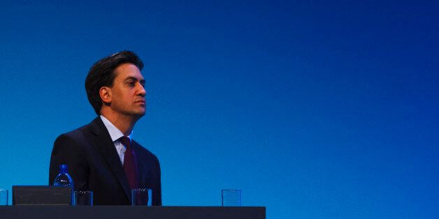Labour leader Ed Miliband speaks during the first day of Labour's annual party conference in