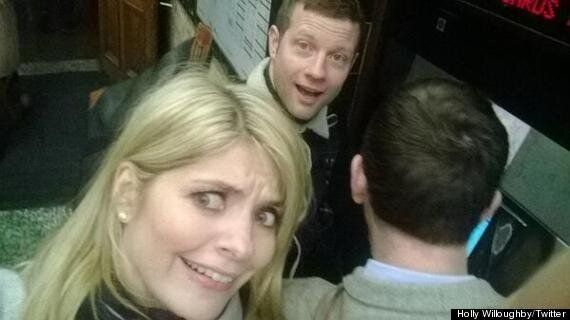 Holly Willoughby And Dermot O'Leary Take The Tube After Hosting 'This Morning'