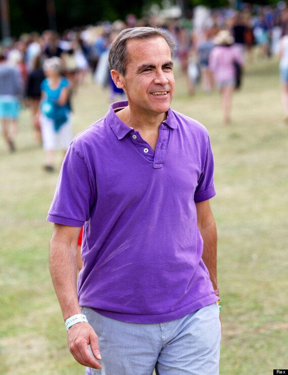 Mark Carney, Bank Of England Governor, Chills Out At Wilderness Festival