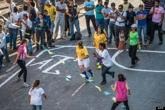 World Cup 2014: 'Naked' Prostitutes Play Football To Raise Awareness Of Sex Worker's