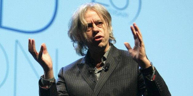 Irish humanitarian and singer Bob Geldof is seen during the 25th TFWA World Exhibition opening conference,...