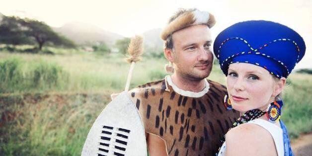 Alex Pelling and Lisa Gant's Zulu wedding