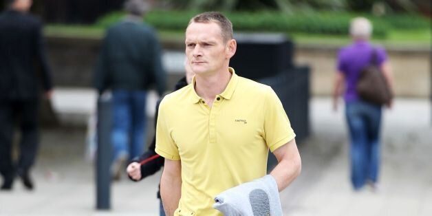 Lee Horner arrives at Leeds Magistrates' Court ahead of his trial where he has admitted owning a dangerous...