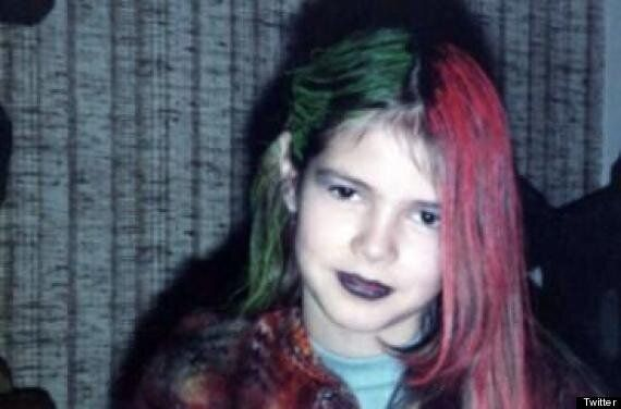 Heidi Klum Shares Childhood Picture Of Herself As A Goth On