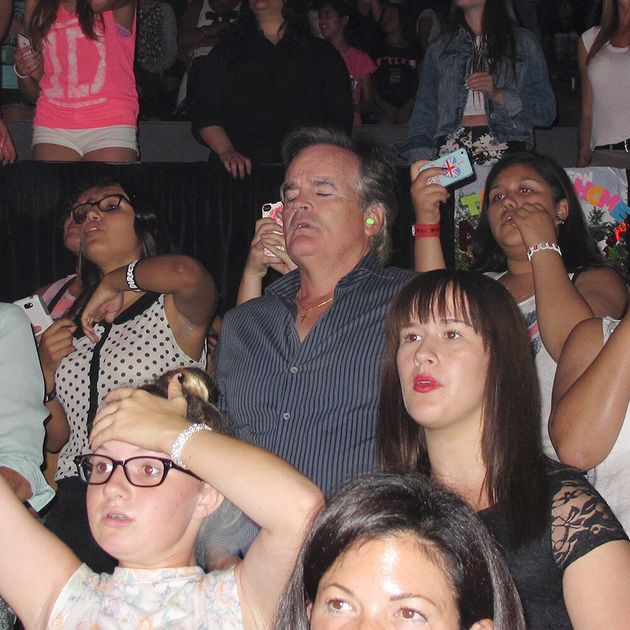 Caught On Camera: Dads At A One Direction Concert