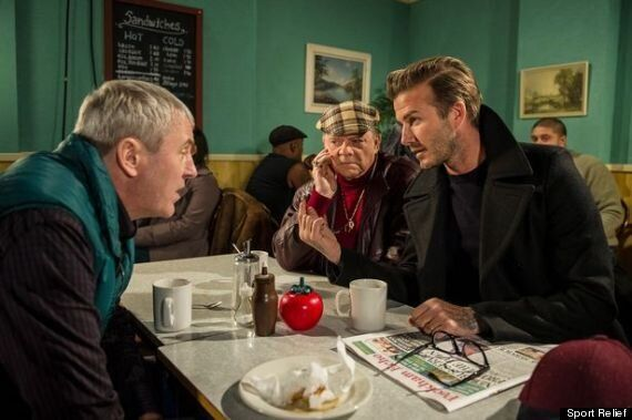 David Beckham Stars In 'Only Fools And Horses' For Sport Relief