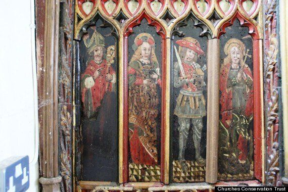 15th Century Medieval Panels Stolen From Holy Trinity Church In Torbryan, Devon