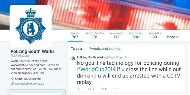 South Warwickshire Police On Twitter Are REALLY Into This World Cup