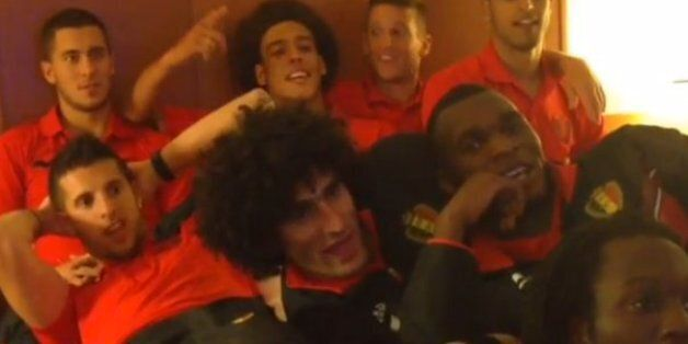 Belgium National Team Watch French Film In Hotel Room