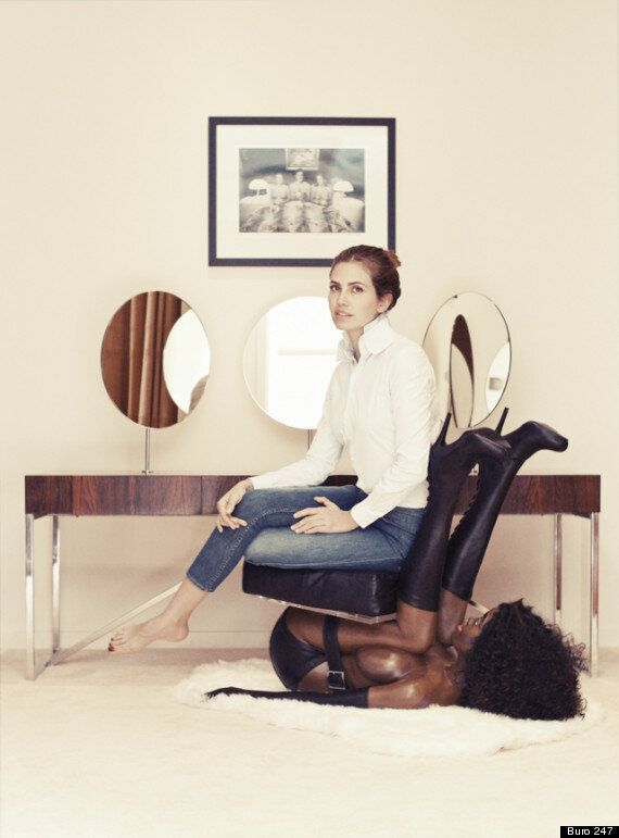 Racism Row As Dasha Zhukova Sits On 'Naked Black Woman Chair' For Interview Published On Martin Luther...