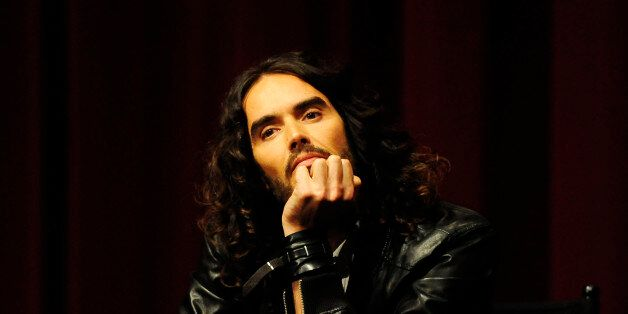 LOS ANGELES, CA - APRIL 02: Russell Brand moderates the Q&A at the 'Meditation In Education' Global Outreach...